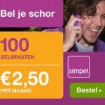goedkoop sim only abonnement simpel 150x150 Goedkoop sim only abonnement, 100 minuten voor € 2.50