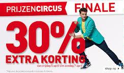 30 procent extra korting prijzencircus v en d 30% extra korting bovenop uitverkoop Prijzen Circus V&D (Laatste dag)
