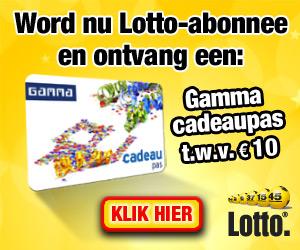 Gratis Gamma kadopas bij automatisch meespelen lotto Gratis Gamma Cadeaupas t.w.v. € 10.  kado bij automatisch meespelen lotto