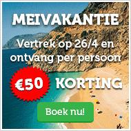 vakantie acite corendon 50 euro corendon