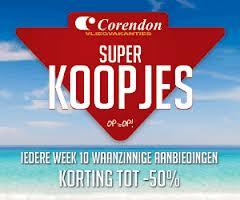 Super Koopjes Corendon vakantie aanbiedingen Super Koopjes bij Corendon Reizen, elke week 10 Superkoopjes met tot 50% korting & heel veel All Inclusive (al vanaf € 149. )