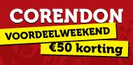 50 euro weekend vakantie korting corendon
