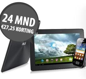 Gratis Asus Tablet PC en gratis Samsung Galaxy Smartphone