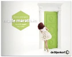 Maffe Marathon de Bijenkorf 2013 folder