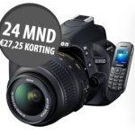 gratis Nikon D3100 digitale spiegelreflexcamera