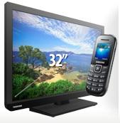 Bestel de gratis 80 cm Toshiba 32W1333 LED tv en profiteer van in totaal 370 Euro voordeel