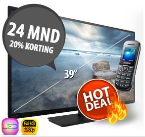 gratis Full HD tv en 24 maanden korting op abonnement