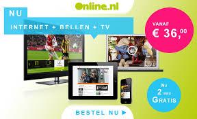 aanbieding goedkoop alles in 1 pakket internet en eerste 2 maanden gratis online internet Aanbieding Alles in 1 pakket Online, 1 jaar € 29.95 per maand, daarna € 36.  per maand