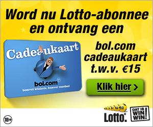 automatisch meespelen lotto gratis bol.com cadeaubon Automatisch meespelen Lotto, gratis Bol.com cadeaubon t.w.v. € 15.  cadeau