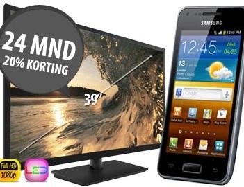 Gratis TV en gratis Smartphone en 24 maanden 20% korting op uw abonnement