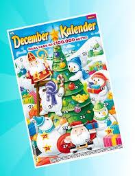 gratis december kalender kraslot bij Telegraaf proefabonnement
