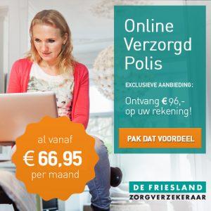 96 Euro CashBack retour bankrekening overstappen zorgverzekering de Friesland 2014 300x300 € 96.  Retour bankrekening bij overstappen zorgverzekering 2014 de Friesland met vrije zorgkeuze