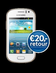 Gratis Samsung Galaxy Tab 3 7.0 en gartis Samsung Galaxy Fame bij een 1-jarig Vodafone abonnement met 12 maanden korting