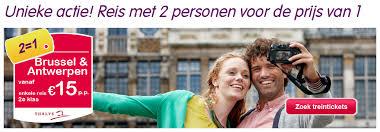 Actie treinkaartjes Thalys 2014 Antwerpen of Brussel 15 euro en 2=1