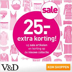 extra korting bovenop de online Sale V&D 2014