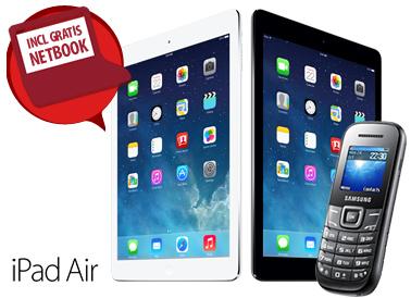 Gratis Apple iPad air en een 10.1 inch Netbook bij een Vodafone abonnement met korting