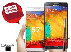 Gratis Samsung Galaxy Note 3 en gartis 10.1 inch netbook bij een Vodafone abonnement met korting