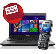 49 Euro voor een 15.6 inch laptop en een 10.1 inch netbook bij een Vodafone abonnement met korting
