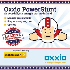 Oxxio Powerstunt goedkope energie goedkoopste energieleverancier 300x300 Oxxio Powerstunt, goedkope energieleverancier met laagste prijsgarantie (tijdelijke deal, op=op)