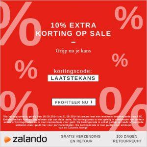 10 procent extra korting bovenop de uitverkoop zalando 2014 300x300 Online uitverkoop Zalando, 10% extra korting bovenop de uitverkoop prijzen & gratis verzending