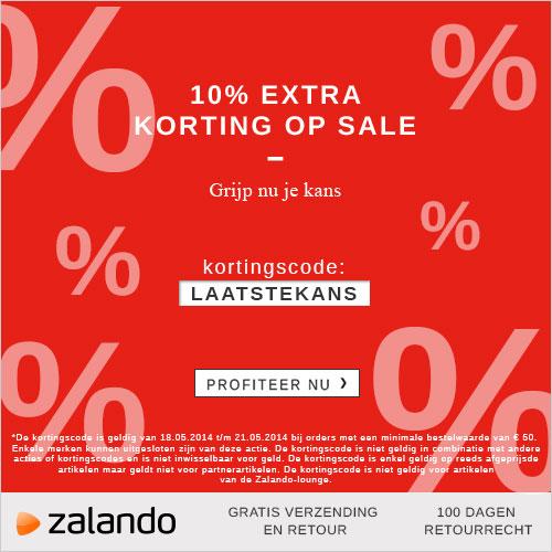 online uitverkoop Zalando en 10 procent extra korting bovenop de uitverkoop prijzen en gratis verzending