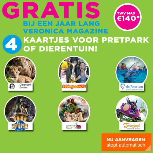 aanbieding Veronica Magazine abonnement met 4 gratis pretpark of dierentuin entreekaarten Aanbieding Veronica Magazine Abonnement met 4 gratis pretpark of dierentuin entreekaarten cadeau
