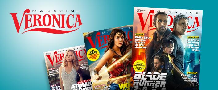 aanbiedingen Veronica Magazine abonnementen met hoge korting Aanbieding Veronica Magazine Abonnement, 53% korting & 2 gratis bioscoop kaartjes, 13 weken van € 21.45 voor € 10.