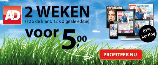 aanbieding Algemeen Dagblad proefabonnement met korting 2 weken voor 5 euro aflopend