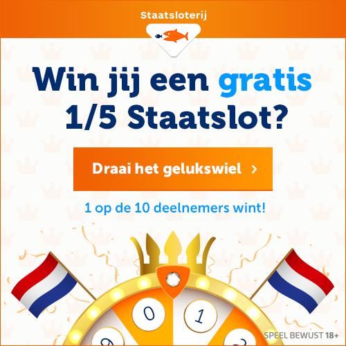 win een 15 staatslot Win een gratis 1/5 staatslot tijdens Staatsloterij Trekking Augustus