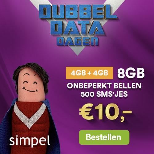 aanbiedingen goedkope Sim Only abonnementen met grote mobiele data bundels