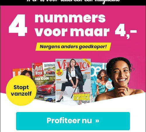 aanbieding aflopende tijdschriften abonnementen 4 weken E 4. stopt automatisch 1 500x450 Aanbiedingen tijdschriften abonnementen 4 weken voor € 4.  (Stopt Automatisch)