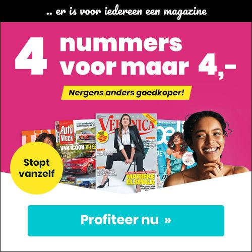 aanbieding aflopende tijdschriften abonnementen 4 weken E 4. stopt automatisch 1 Aanbiedingen tijdschriften abonnementen 4 weken voor € 4.  (Stopt Automatisch)